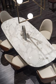 Italian Designer Contemporary Marble 6 Seat Dining Set Stunning designs, with clean intricate finish Traditional Artwork, Leather Dining Chairs, Italian Furniture, Table And Chair Sets, Home Furnishings, Table Decorations, Calacatta Oro, Contemporary Dinning Table, Marble Dinning Table