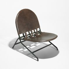 Ico and Luisa Parisi, Enameled Steel and Leather Lounge Chair for Broggi, 1951.