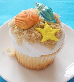 colorful beach cupcakes