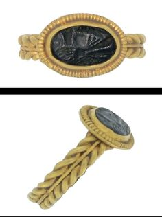 Roman gold finger ring, intaglio, 2nd century A.D.