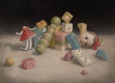 Nicoletta Ceccoli, Ollie Ollie Oxen Free - Hide and Seek, Corey Helford Gallery