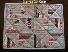 Quilted placemats | Material Girl Quilts