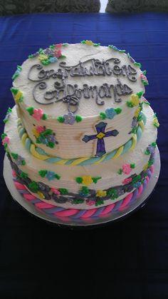 Confirmation Cake Confirmation Cakes, Desserts, Food, Tailgate Desserts, Deserts, Essen, Postres, Meals, Dessert
