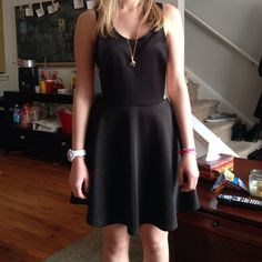 PacSun  cut out dress Black cute cutout dress. I'm 5'0 so it will look really good on anyone who's a little taller. Cute with a bandeau or crop shirt under. Never worn PacSun Dresses