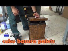Aprovecha la madera de los palés viejos para hacer un cubo de basura. ¡Increíble…
