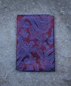 Silk Diamond Pocket Square in Purple by Tails and the Unexpected