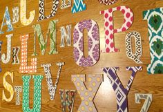 This Off The Bolt alphabet set is gender neutral and perfect for a playroom, nursery, or childs room! The bold colors include greens, blues,
