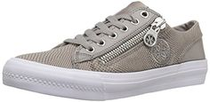 Guess Womens Mayra Fashion Sneaker Gray 85 M US ** Check out this great product.