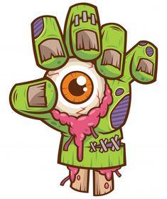 Zombie hand with eyeball Premium Vector   Premium Vector #Freepik #vector #music #hand #cartoon #eye Zombie Drawings, Scary Drawings, Cool Art Drawings, Cartoon Drawings, Drawing Sketches, Cartoon Eyes, Graffiti Doodles, Graffiti Drawing, Graffiti Lettering