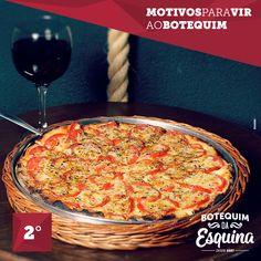 Você está afim de uma pizza gostosa para matar a larica. Campanha Motivos para vir ao Botequim
