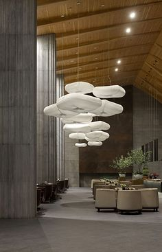cloud pendants at Yangzhou Vanke Clubhouse molodesign.com