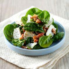 Salade d'épinards au chèvre #recette #recipe