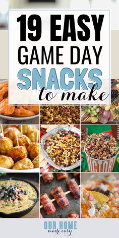 Make game day even better with these easy game day snacks & football finger foods! You can them make ahead of time, warm them up if needed, and be party ready quickly! Make game day even better with these easy game day snacks & football finger foods! Make Ahead Appetizers, Game Day Appetizers, Snacks To Make, Game Day Snacks, Snacks Für Party, Game Day Food, Easy Snacks, Appetizer Recipes, Snacks Recipes