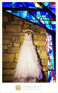 Limelight Photography, www.stepintothelimelight.com, Weddings, Grace Lutheran Church, St. Petersburg, Florida, Wedding Dress, White, Stained Glass, Windows, Brick
