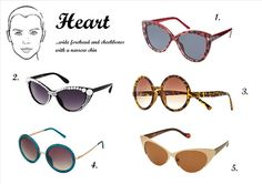 Photo heart shaped face sunglasses female