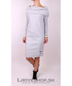 Dámske šedé šaty