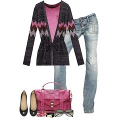 A fashion look from November 2012 featuring Mulberry cardigans, True Religion tops and Dsquared2 jeans. Browse and shop related looks.