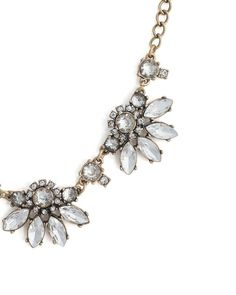 frosty floral necklace