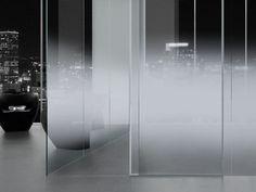 Panneau en verre flotté dépoli progressif - NUVOLA 180/35 - VITREALSPECCHI SPA