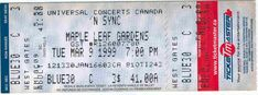NSYNC Vintage Ticket Stub 'N SYNC Toronto 1999 Maple Leaf Gardens Justin Timberlake  From The Mighty Finwah Collection  Safely Stored For Over 19 Years   UNIQUE ITEMS FOR UNIQUE PEOPLE  Shipping will be within 2 days of your payment  All Sales are Guaranteed Satisfaction  We are Fans so we know what fans Expect Ticket Stubs, Justin Timberlake, Concerts, Toronto, Fans, Gardens, Entertaining, Unique, People