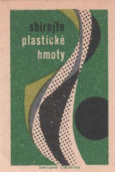 czech matchbox label ✭ vintage graphic design