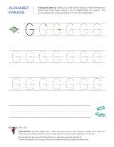 Uppercase G letter tracing worksheet, with easy-to-follow arrows showing the proper formation of the letter.