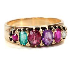 """Antique Victorian """"REGARD"""" Ring."""