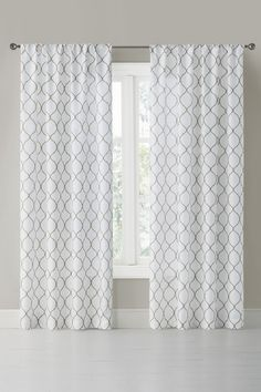 Wonder Home Hilton Printed Rod Pocket 2-Piece Curtain Set - Brown