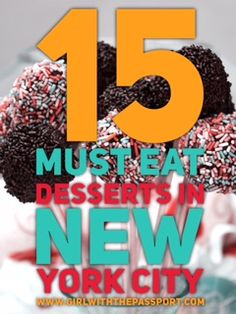 15 Desserts you MUST eat in New York City
