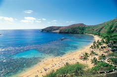 Hanuama Bay Marine Sanctuary, na ilha de Oahu, no Havaí. Esta é uma das paradas do navio Pride of America, o único que conta com saídas semanais pelo arquipélago todos os meses do ano (foto: Norwegian/Divulgação)