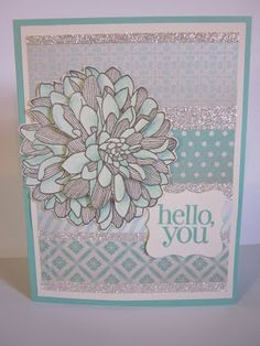 Stampin on the Range - Regarding Dahlias stamp set with Winter Frost DSP