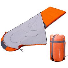 Gazelle Outdoors Envelope Sleeping Bag Camping Hiking Travelling Sleep Gear W Carry Bag Orange *** You can get additional details at the image link. #SleepingBagsandCampBedding