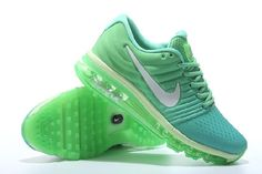 Shop This Nike Air Max 2017 Light Green White Sports Running Shoes Discount  Now