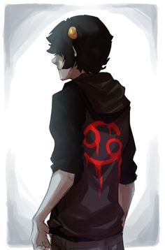 and so hussie said lets make a ridiculously attractive character and thats how karkat came to be
