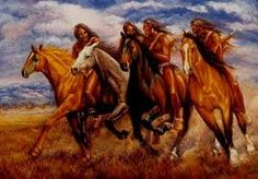 painting american indians and horse - Google Search