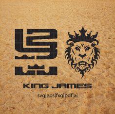 Nike Lebron James SVG Vector Logo King Lion Download
