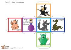 Teacher's Pet Displays » Fairy tale story telling dice (with words) » FREE downloadable EYFS, KS1, KS2 classroom display and teaching aid resources » A Sparklebox alternative