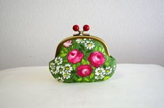 Frame purse  French retro floral Candy coin purse ♥ by SpringFlavor, $20.00