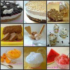Raccolta di ricette DOLCI FREDDI Panna Cotta, Food Collage, Biscotti, Mini Desserts, Sweet Nothings, Buffet, Frozen, Menu, Pudding