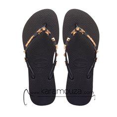 .shop online: http://karamouza.com/el/havaianas/havaianas-sandals-slim-hardware-black-black-lepto-louri-sagionara-gynaikeio-mayro-trouks.html