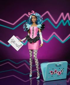 Jem and the Holograms Integrity Toys Color Infusion Regine Cesaire doll, clothing designer. Limited edition of 500, announced May 19, 2014, suggested retail of 119 dollars. Ajems is so happy to finally see an official Regine doll! #jem #jemdoll #jemandtheholograms #regine #jemregine #reginecesaire #integritytoys #integritydoll