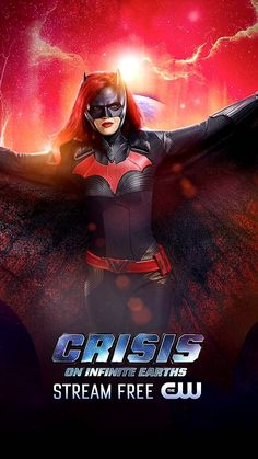 RAMIGS: Pôsters promocionais de Crisis On Infinite Earths. Batwoman, Batgirl, Ghostbusters, Arrow Flash, Dc Comics Series, Superhero Shows, Superhero Workout, Female Superhero, Earth Poster