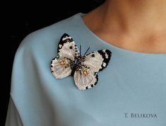 Татьянина мастерская: Брошь бабочка.