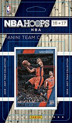 Oklahoma City Thunder 2016 2017 Hoops Basketball NBA Licensed Factory Sealed 9 Card Team Set with Russell Westbrook Plus
