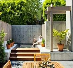 Whether you have a small townhome patio, rooftop deck, cozy backyard, or expansive green space – here is a little inspiration for everyone! Simple Garden Designs, Home Garden Design, Home And Garden, Indoor Garden, House Design, Modern Courtyard, Courtyard Design, Courtyard House, Patio Design