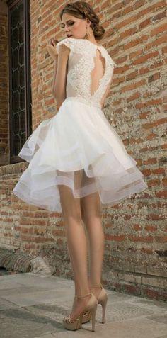 e781139c42 1001+ ideas de vestidos de novia cortos y elegantes