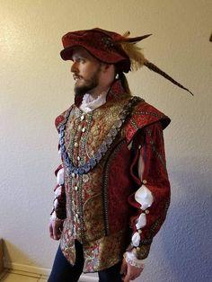 The Prince Edmund Doublet, Starter Kit. Doublet Hat and Blouse (shirt) Kleider 👗 Mode Renaissance, Renaissance Fair Costume, Medieval Costume, Renaissance Fashion, Renaissance Clothing, Medieval Hats, Historical Costume, Historical Clothing, Period Costumes
