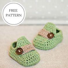 Free Baby Moccasins Crochet Pattern