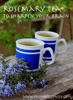 Sharpen your brain and boost your mood with this simple tea, Rosemary tea Homeopathic Remedies, Health Remedies, Home Remedies, Natural Remedies, Healing Herbs, Medicinal Herbs, Natural Healing, Natural Medicine, Herbal Medicine