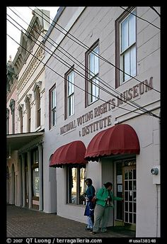 Entrance of National Voting Rights Museum. Selma, Alabama, USA